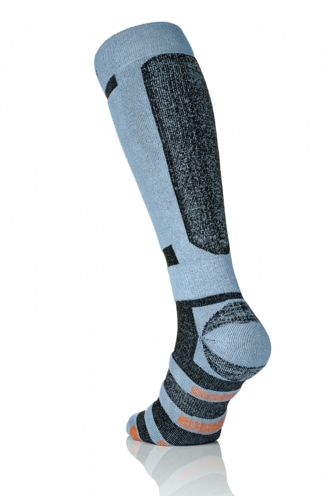 Термошкарпетки Nessi S3 Сірі з чорним - 2