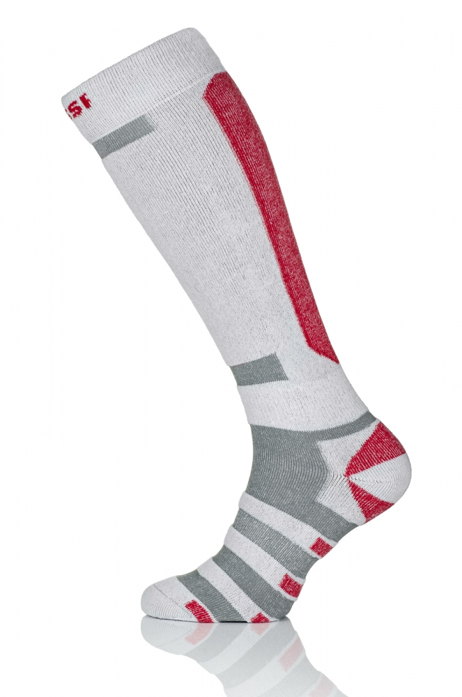 Термошкарпетки Nessi S1 Біло-сірі з чевроним - 1