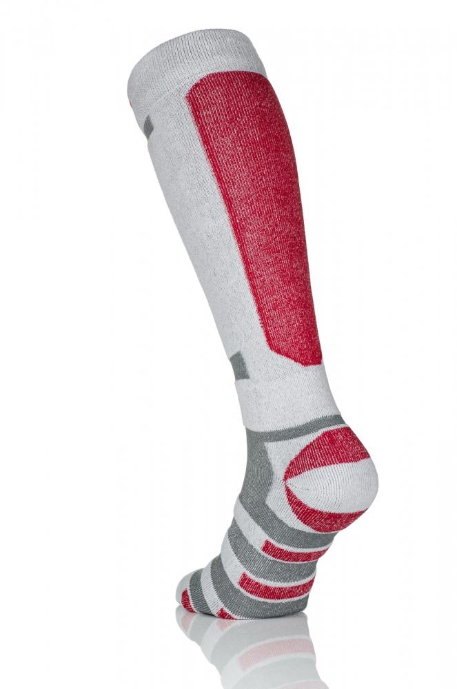 Термошкарпетки Nessi S1 Біло-сірі з чевроним - 2