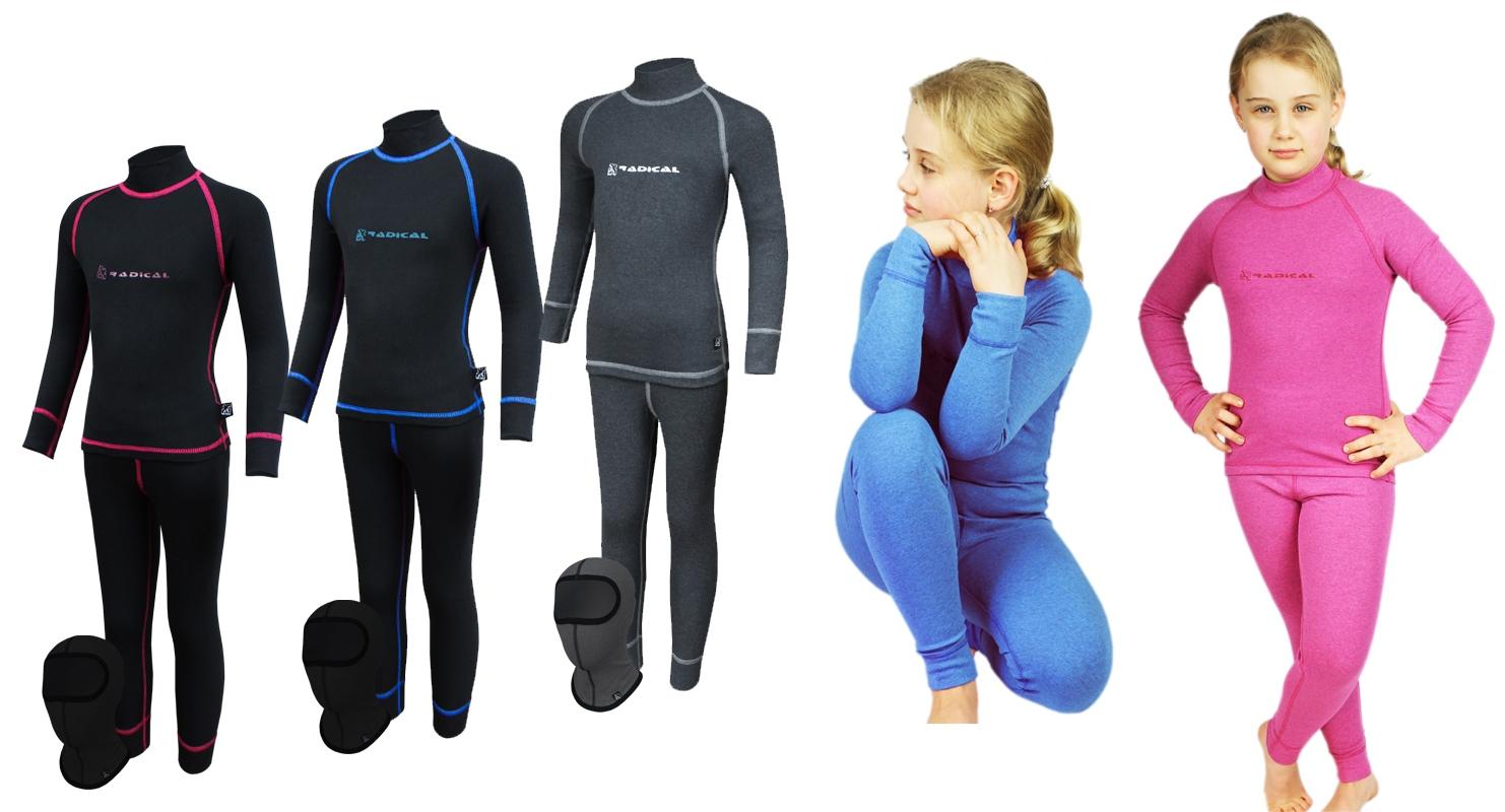 Дитячa термобілизнa Radical (Польща) + подарунок!  Чорна з синіми нитками - 1