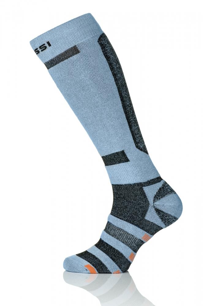 Термошкарпетки Nessi S3 Сірі з чорним - 1