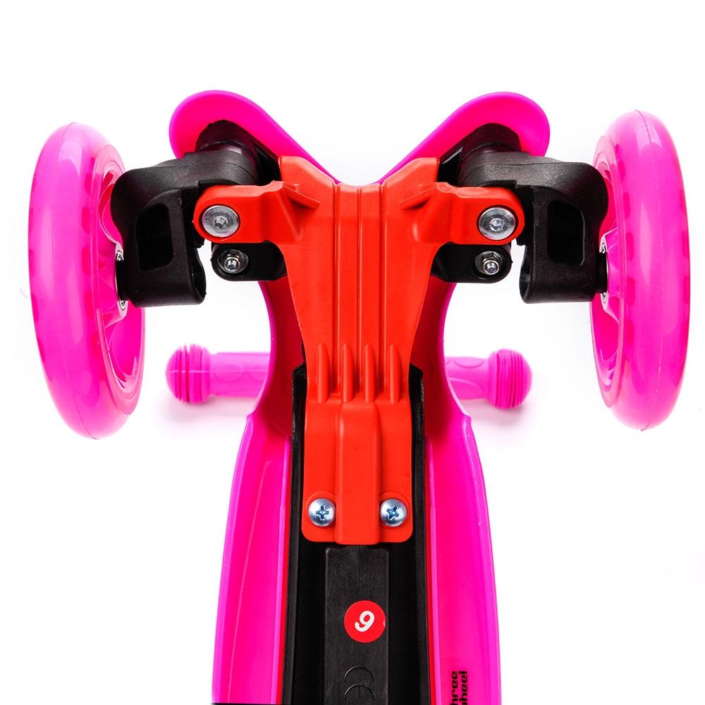 Самокат трохколісний METEOR рожевий - 3