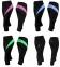 Спортивні велоштани жіночі Radical Flexy 3/4 (Польща) Чорні із Зеленою вставкою - 1